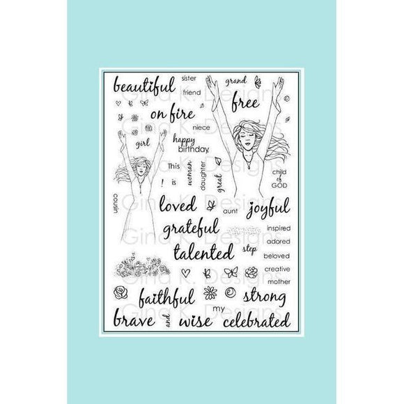 Gina K Designs - Clear Stamp - Melanie Muenchinger - This Girl Is