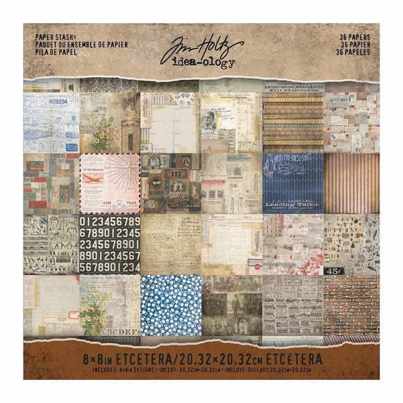 Tim Holtz - Idea-ology Mini Paper Stash - Etcetera