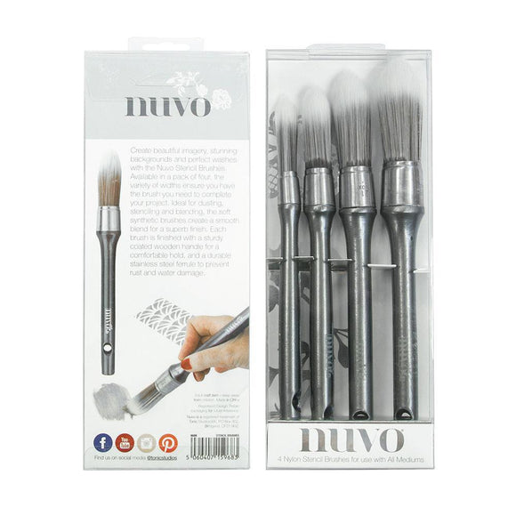 Tonic Studios - Nuvo - Stencil Brushes 4Pc