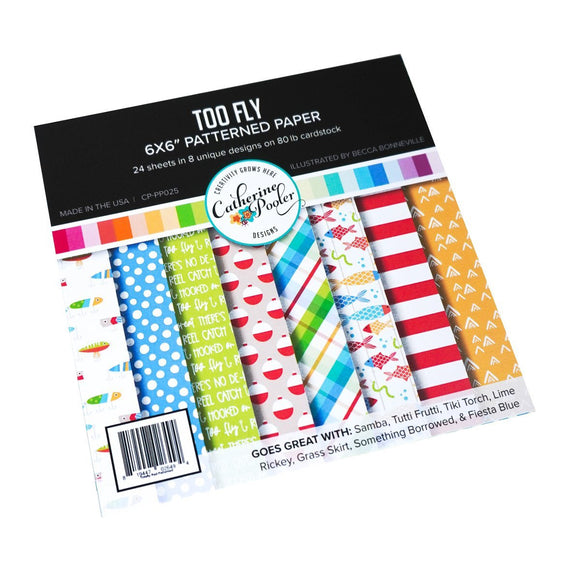 Catherine Pooler - Too Fly Patterned Paper