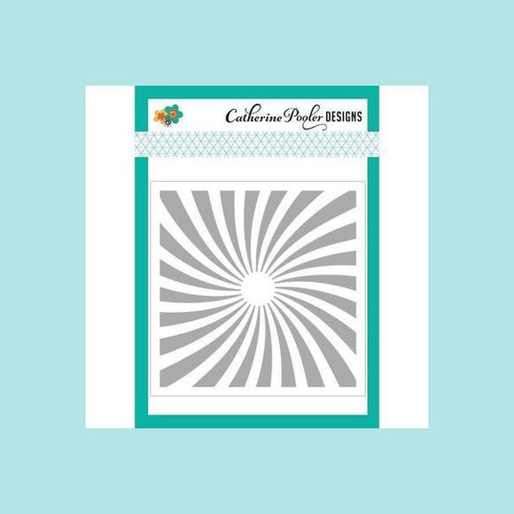 Catherine Pooler Twisted Sunburst Stencil
