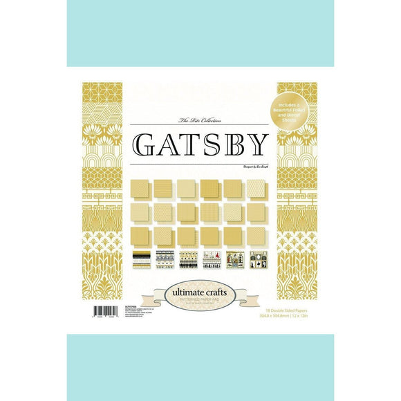 Ultimate Crafts Evening Gatsby Paper Pad 12 x 12