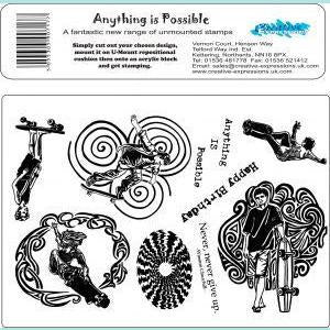 Creative Expressions - Umount Anything is Possible A5 stamp plate