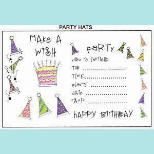 Creative Expressions - U-Mount Party Hats Rubber Stamp Set