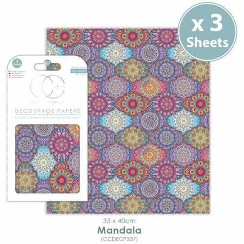 Craft Consortium - Mandala - Decoupage Paper Set