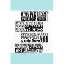 Tim Holtz Stampers Anonymous Motivation 1 CMS289