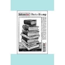 Darkroom Door Book Stack Photo Stamp