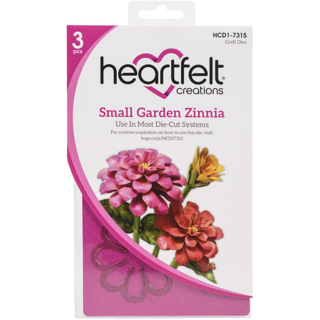 Heartfelt Creations - Small Garden Zinnia Die