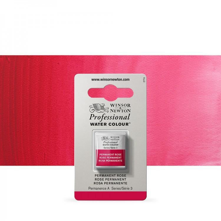 Winsor & Newton Professional Water Colour - Single Pan Colours - Permanent Rose