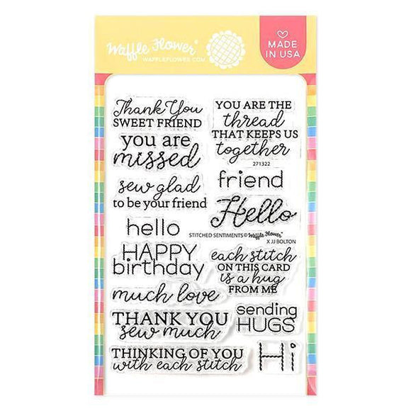 Waffle Flower - Stitched Sentiments Stamp Set