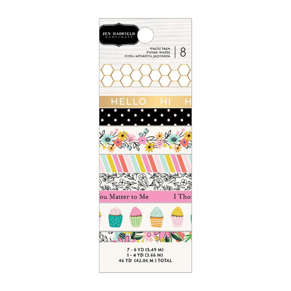 American Crafts - Pebbles - Jen Hadfield - Hey, Hello - Washi Tape