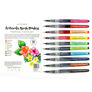Altenew Watercolor Brush Markers - Tropical Fiesta Set