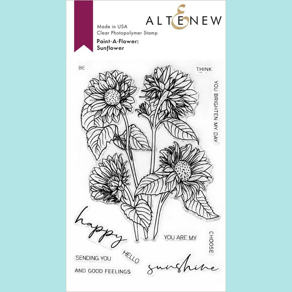Altenew - Paint a Flower: Sunflower Outline Stamp Set