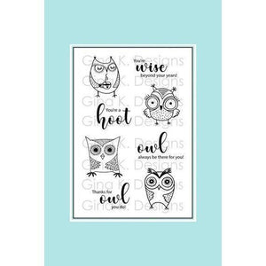 Gina K Designs - Clear Stamp - Wise Old Owl