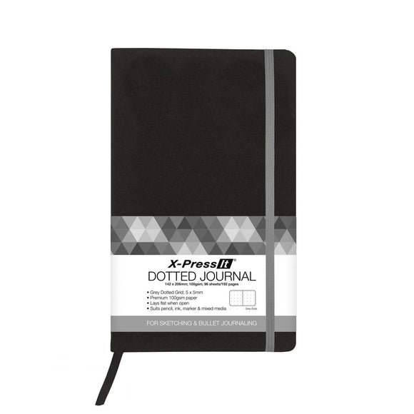 X-Press It - Dotted Journal Black A5