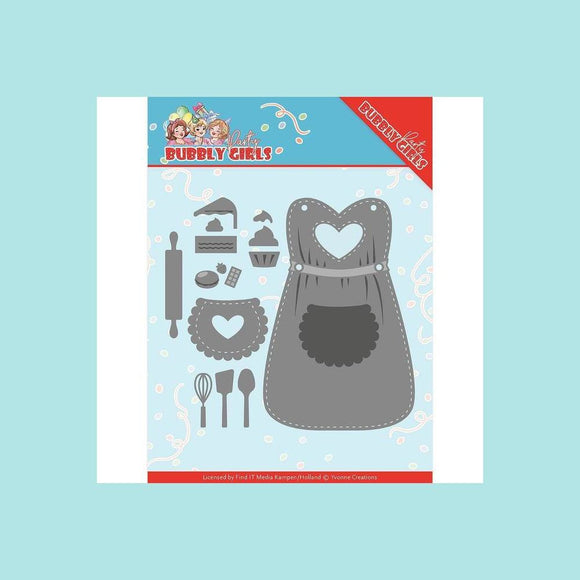 Couture Creations - Die - Yvonne Creations - Bubbly Girls Party - Apron
