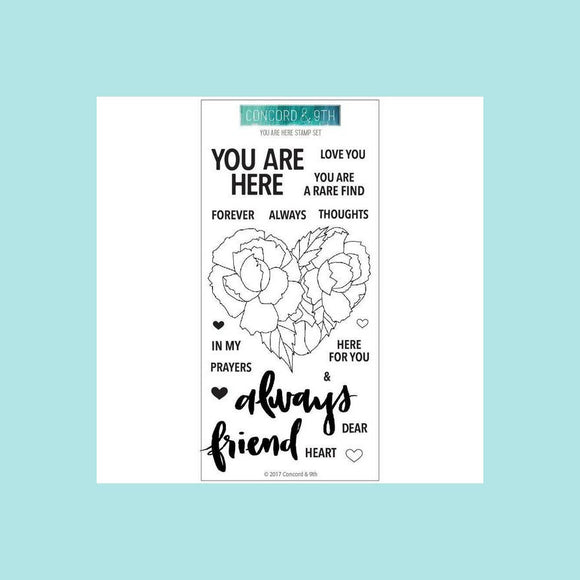 Concord & 9th YOU ARE HERE Clear Stamp Set