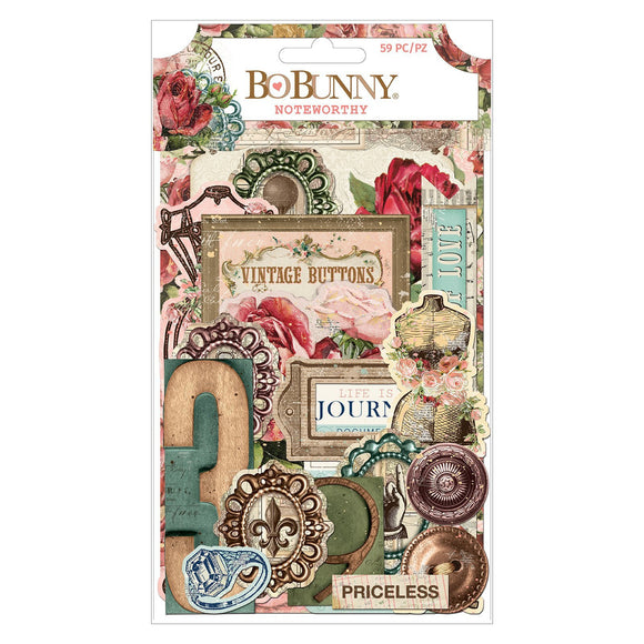 BoBunny - Embellishment - Family Heirlooms - Noteworthy (59 pieces)
