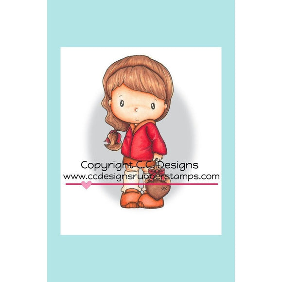 C.C. Designs Swiss Pixie Abigail's Acorn Rubber Stamp