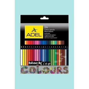 Adel Blackline Pencils 24 Set