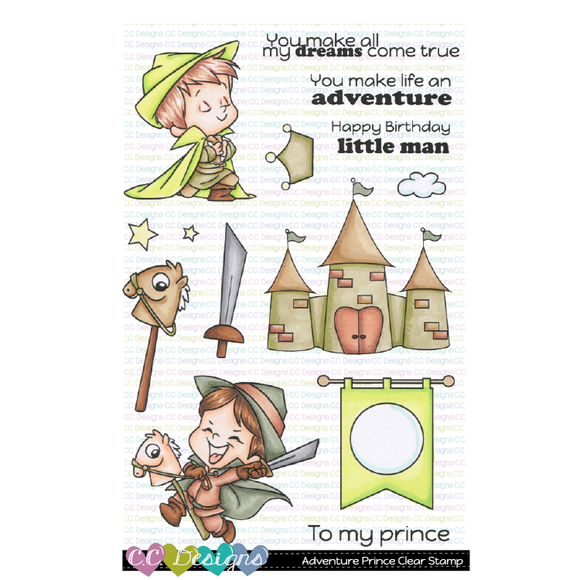 C.C. Designs - Adventure Prince Clear Stamp Set