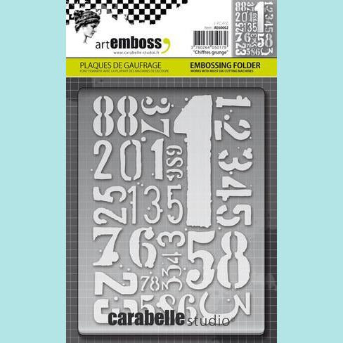 Carabelle Studio - Embossing Folder - Chiffres Grunge (Numbers)