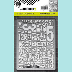 Carabelle Studio - Embossing Folder - Numbers