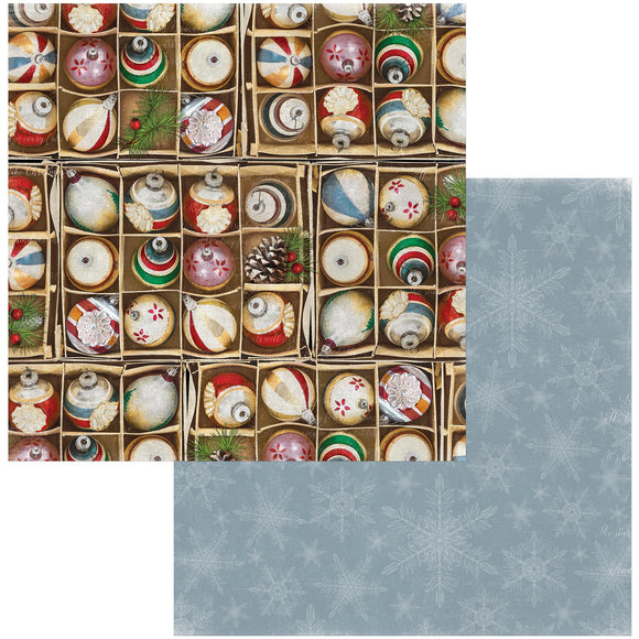 BoBunny - Joyful Christmas Patterned Paper  - 12 X 12 - Decorations