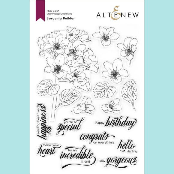 Altenew  - Bergenia Builder Stamp Set