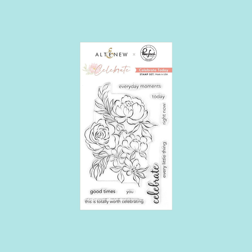 White Smoke Altenew  - Celebrate Today Stamp Set