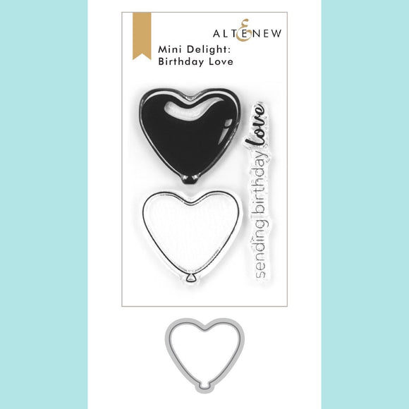 Altenew  - Mini Delight : Birthday Love Stamp and Die