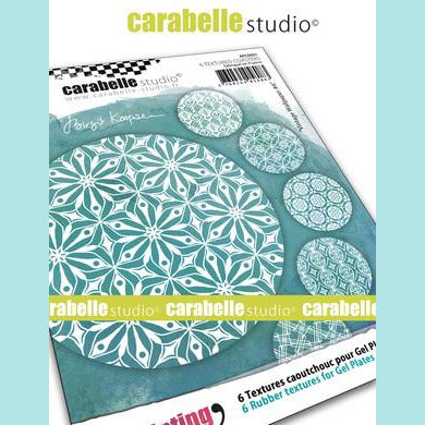 Carabelle Studio Art Printing - Textured Coasters: Vintage Wallpaper #6 by Birgit Koopsen