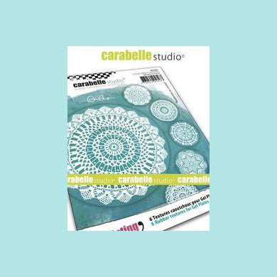 Cadet Blue Carabelle Studio Art Printing - Textured Coasters : Crochet doilies by Alexi