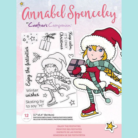 Crafter's Companion - Annabel Spenceley Photopolymer Stamp - Enjoy The Festivities