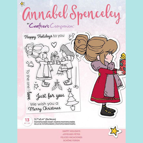 Crafter's Companion - Annabel Spenceley Photopolymer Stamp - Happy Holidays