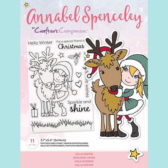 Crafter's Companion - Annabel Spenceley Photopolymer Stamp - Hello Winter