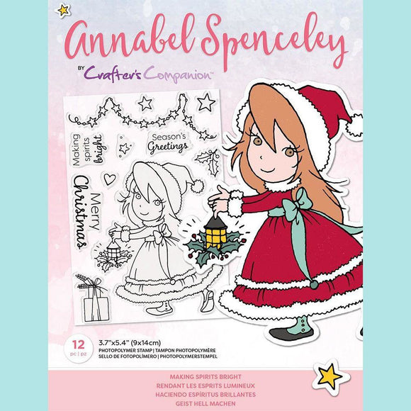 Crafter's Companion - Annabel Spenceley Photopolymer Stamp - Making Spirits Bright