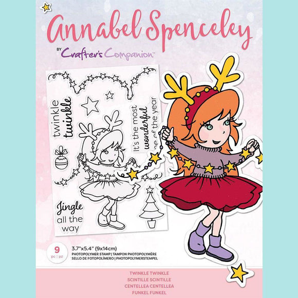 Crafter's Companion -  Annabel Spenceley Photopolymer Stamp - Twinkle Twinkle