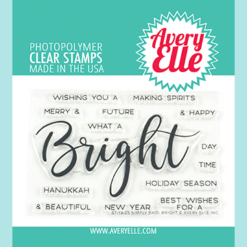 Avery Elle - Simply Said: Bright Clear Stamps and Die