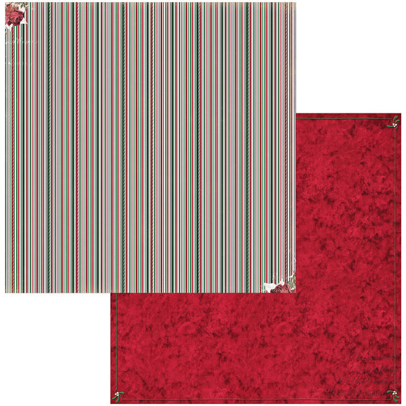 BoBunny - Joyful Christmas Patterned Paper  - 12 X 12 - Stripe