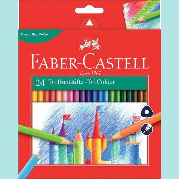 Faber-Castell - Tri Colour Pencil Set - 24