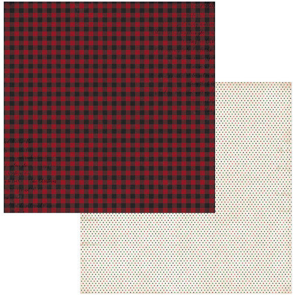 BoBunny - Joyful Christmas Patterned Paper  - 12 X 12 - Plaid