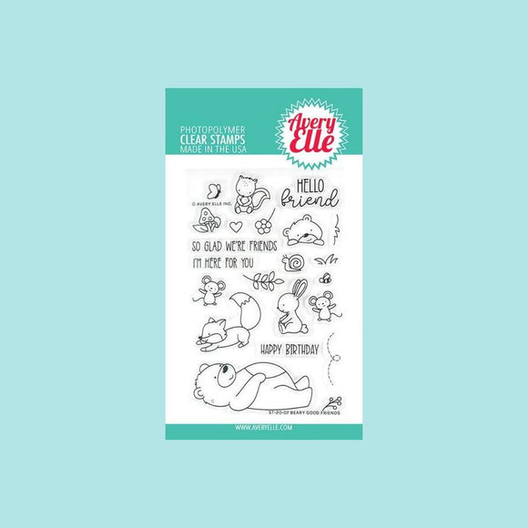 Avery Elle - Beary Good Friends Clear Stamps and Die