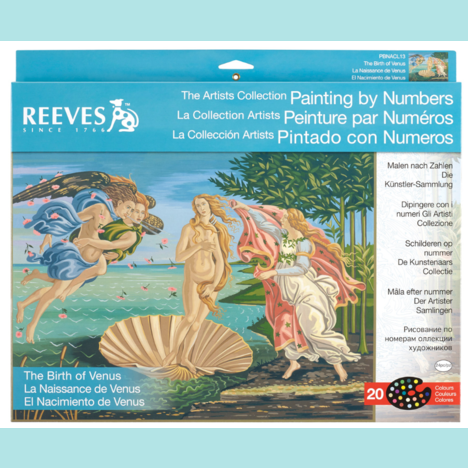 Reeves Artist Collection - Birth of Venus Painting By Numbers - Large