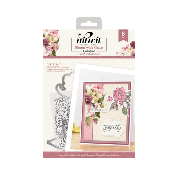 Nitwit Bloom with Grace - Stamp & Die Set