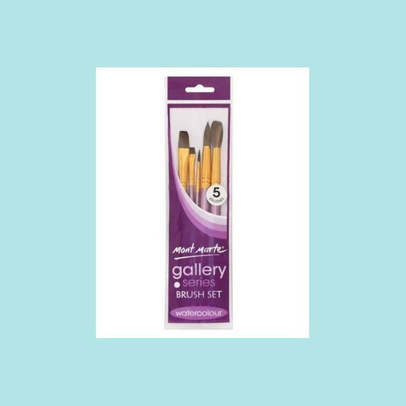 Mont Marte - Gallery Series Brush Set Watercolour 5pc