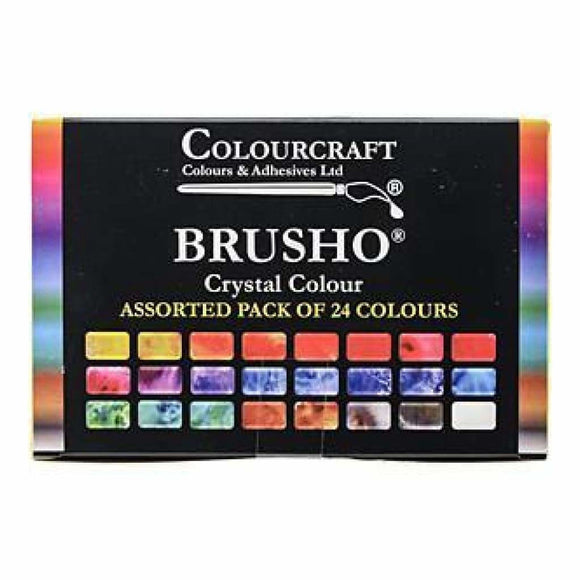 Brusho - Crystal Colour - 24 Pack