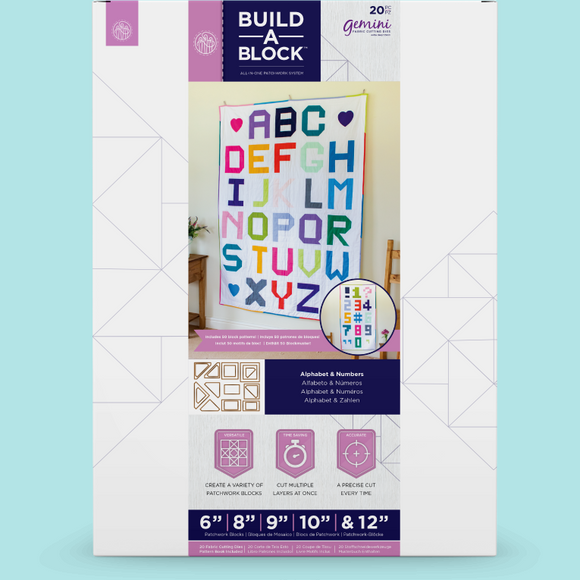 Crafters Companion - Gemini Build-A-Block - Alphabet & Numbers Patchwork System
