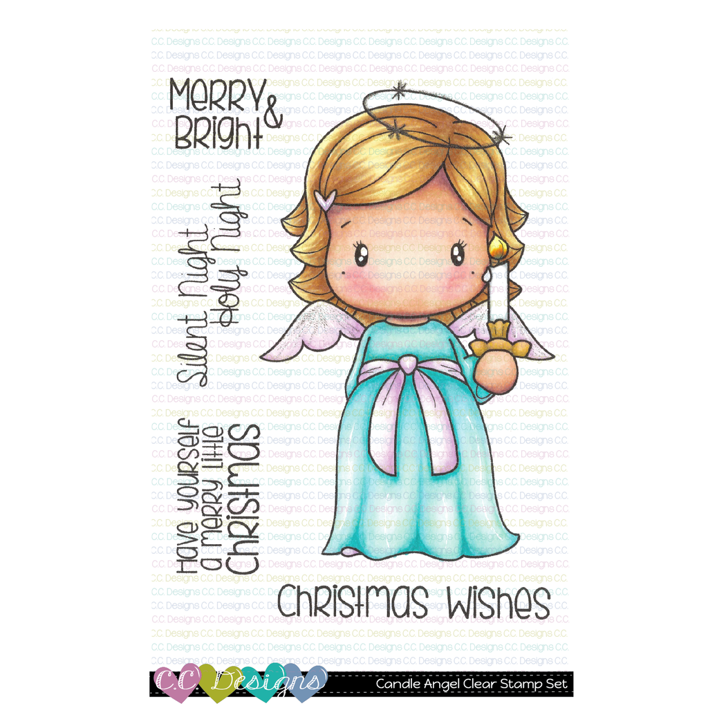 C.C. Designs - Candle Angel Swissie Clear Stamp Set