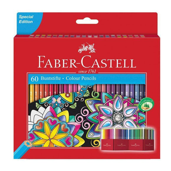 Faber-Castell - Classic Colour Pencil, Cardboard Wallet of 60